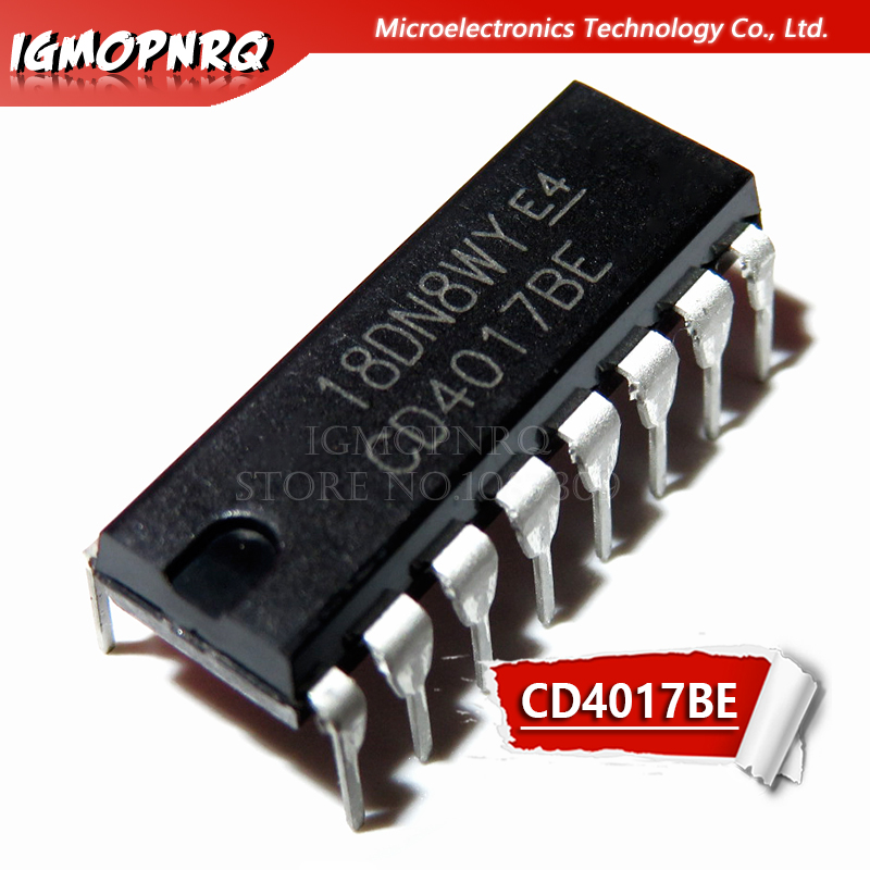 10pcs/lot CD4017 CD4017B CD4017BE 4017 DECADE COUNTER DIVIDER IC New Original Free Shipping