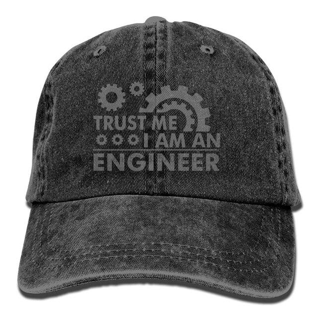Trust Me I M an Engineer Denim Hat Adjustable Men Low Baseball Hats ... 86d4b5b78f5e