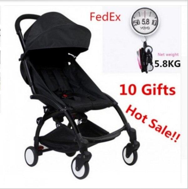 Original baby stroller In Stock Folding Baby Stroller Umbrella Trolley Stroller Minnie Black Pram 10 Accessory baby