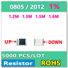ОМ 0805 F 1% 5000 шт. 1.2 М 1.3 М 1.5 М 1.6 М smd 2012 резистор