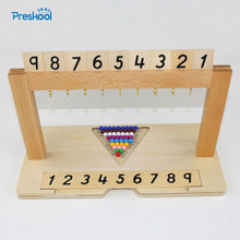 Baby Toy Montessori Colored Bead Stair Hanger Colored Bead Stairs 1 to 9 Kids Toys Brinquedos