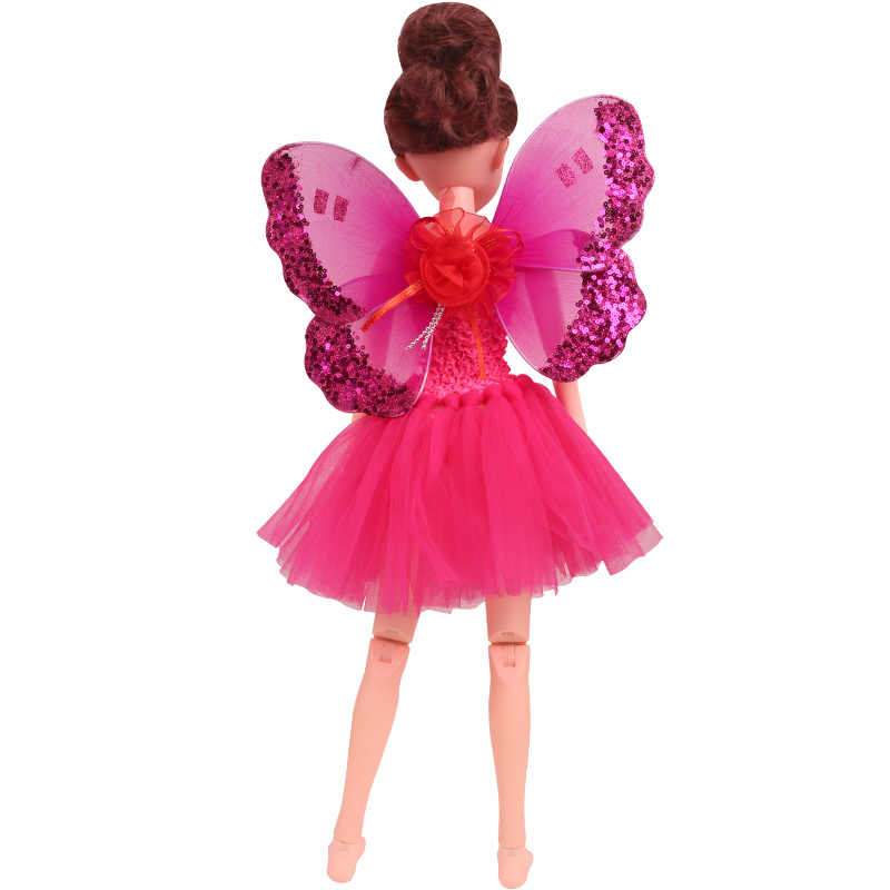 BJD 60 см куклы одежда 1/3 платье феи газовая юбка эльф крылья дух волшебная палочка подходит 18 дюймов девочка кукла и 43 см ребенок b7