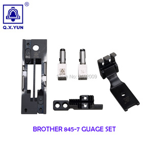 Calibre dobro industrial da agulha das peças sobresselentes da máquina de costura ajustado para o aparamento automático do irmão 845-7
