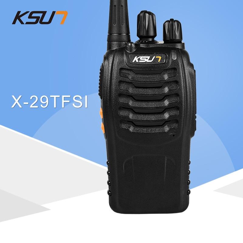 1 PCS KSUN X-29TFSI Walkie Talkie 5W Handhållen Pofung UHF 5W 400-470MHz 16CH Tvåvägs bärbar CB-radio