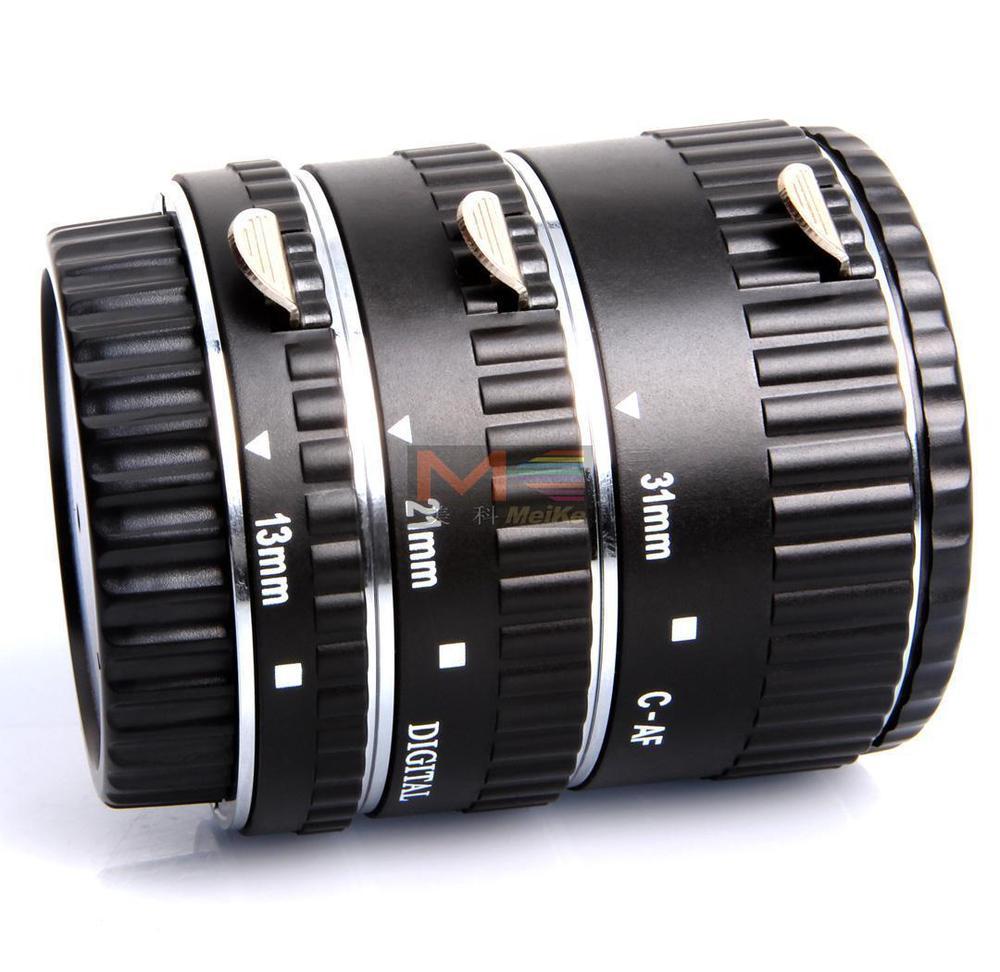 Meike auto focus Metal AF Macro Extension Tube Set for Canon EOS Camera kwen cn sj1 macro extension tube set for canon black