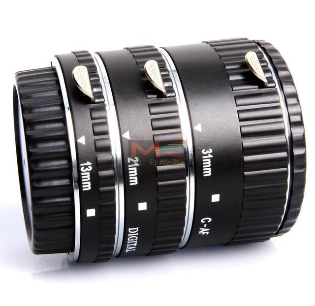 Meike foco automático metal AF macro tubo de extensión para Canon EOS Cámara