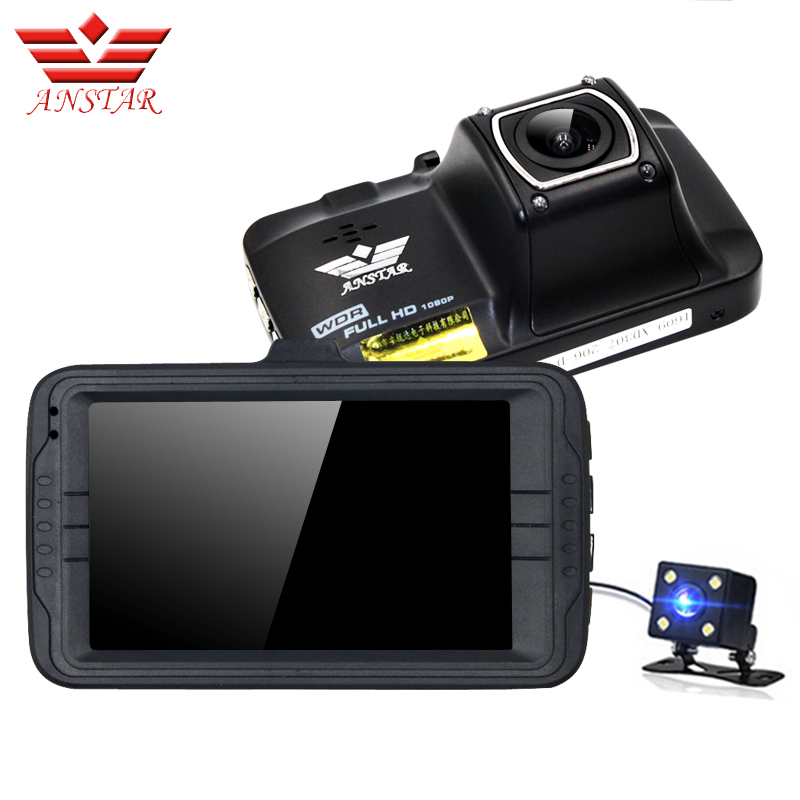 ANSTAR 3 Inch Car Camera Video Recorder Car Dvr Dual Lens HD 1080 Dash Cam Parking Monitor Automobile Dvrs Dashcam Night Vision