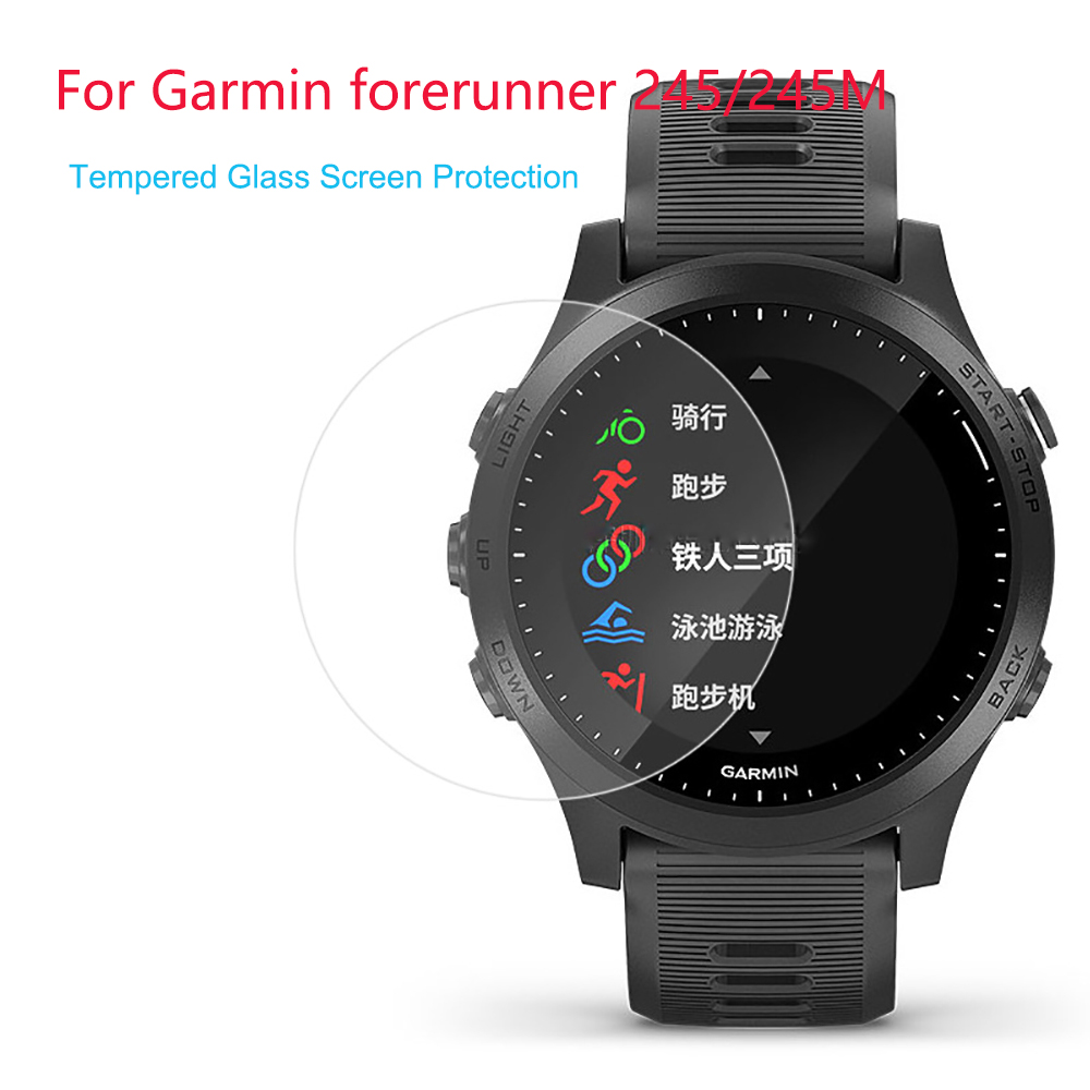 9H 2.5D Premium Tempered Glass Screen Protector Film For Garmin Forerunner 245 For Garmin Forerunner245M Smart Watch