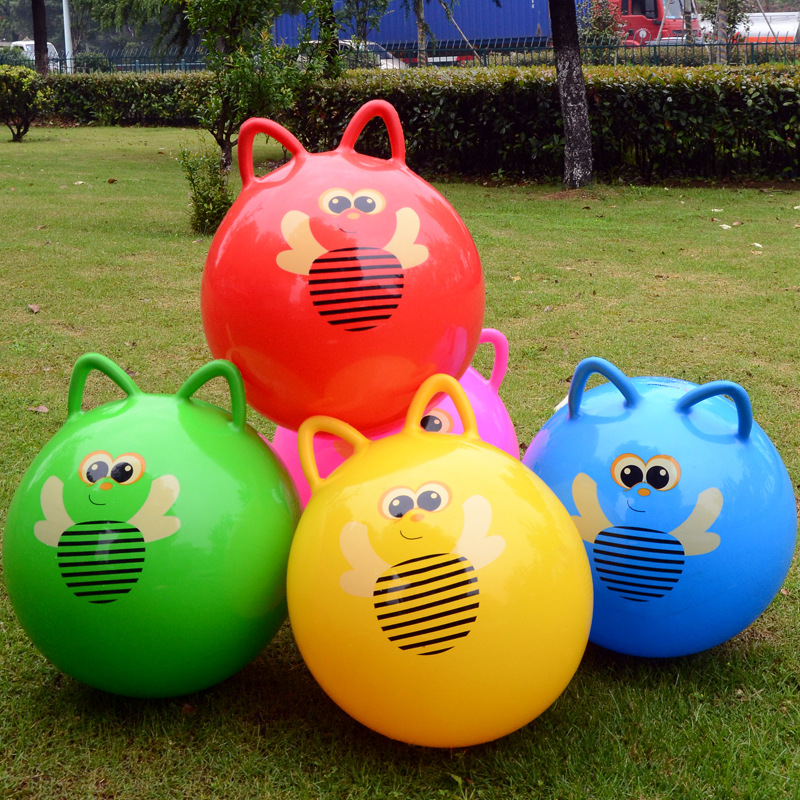 45CM Thickened Bouncing Ball Toys Cartoon Jumping Ball Ear Handle Ball High Quality Inflatable