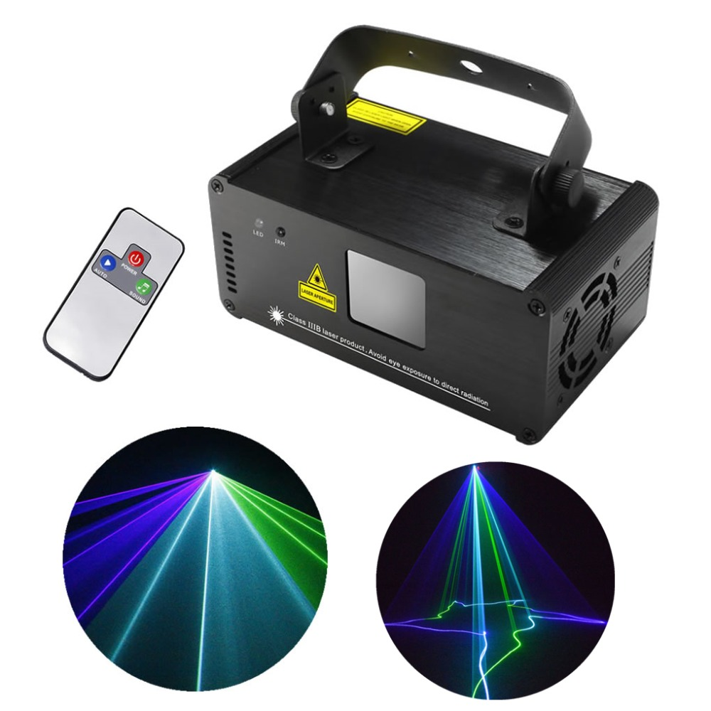 цена AUCD Remote 8 CH DMX Mini Green Blue Cyan GBC 200mW Laser DPSS Stage Lighting Scanner DJ Party Show LED Projector Light GBC200 онлайн в 2017 году