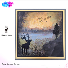 reindeer Clear stamps rubber transparent Silicone Scrapbooking for card making craft DIY decor tool New