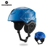 ROCKBROS Skiing Helmet EPS Integrally Molded Ski Helmets Snowboard Double Plate Skateboard Windproof Thermal For Men