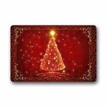 купить Beautiful Red Shiny Christmas Tree Doormat door mat baby floor entry front door kitchen mats for entrance door outdoor indoor по цене 1562.5 рублей