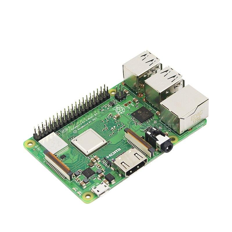 Carte d'origine Raspberry Pi 3 modèle B + plus + dissipateur de chaleur + adaptateur secteur alimentation secteur Supply.1GB LPDDR2 Quad-Core WiFi & Bluetooth - 5