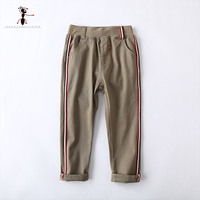Kung Fu Ant Autumn Pants For Boy Casual Full Length Cotton Solid Elastic Waist Kids 4T