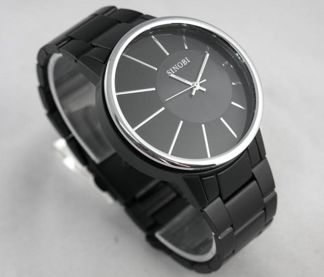 Mens Wristwatches Fashion&Casual Analog Quartz Watch Steel Sports Watches Relogio Masculino Male Hours Clock HOT SINOBI 9338