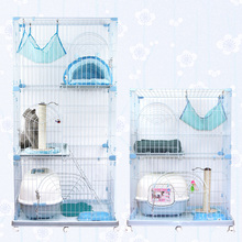 Large cat pet cage double villa PEC902 three PEC903