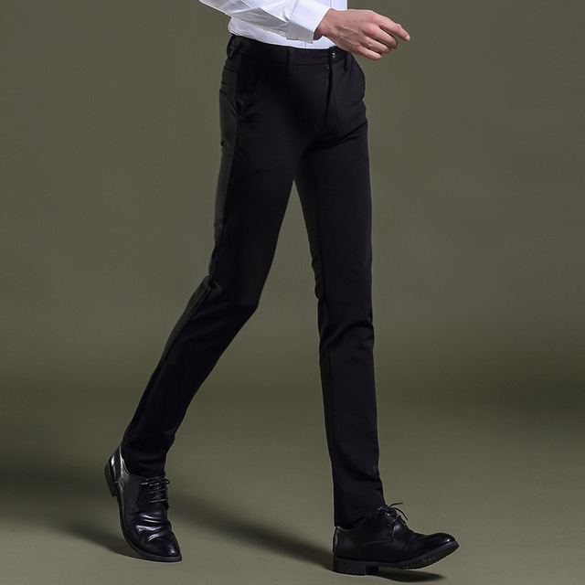 Man Suit Pants High Quality Soft Easy Care Promotion Acetate Cotton Zipper Dress Tailored Business Western Style Men Trousers
