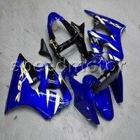 Пользовательские + винты литья под давлением синего ABS крышка для ниндзя ZX 6R 2000 2002 ZX6R 2000 2001 2002 мотоциклов обтекателя