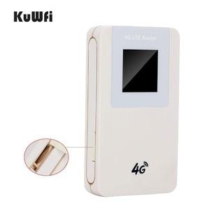Image 3 - KuWfi Unlocked 4G LTE Wireless Router MiFi  4600mAh Power Bank WIFI Router Portable Wireless Modem With SIM Card Slot