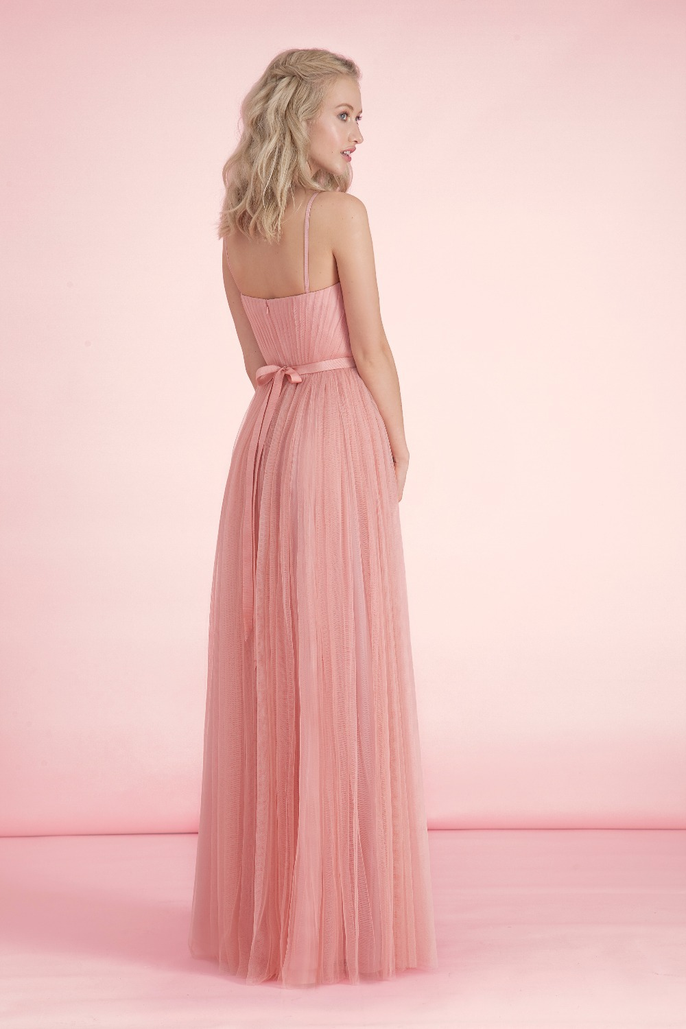 Pastel peach floor length formal goddess gown bridesmaid dresses pastel peach floor length formal goddess gown bridesmaid dresses long a line spaghetti strap wedding guest dress custom klr10 in bridesmaid dresses from ombrellifo Image collections