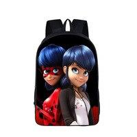 Anime Miraculous Ladybug School Backpack For Teenage Cat Noir Adrien Marinette Boys Girls Bag Children School