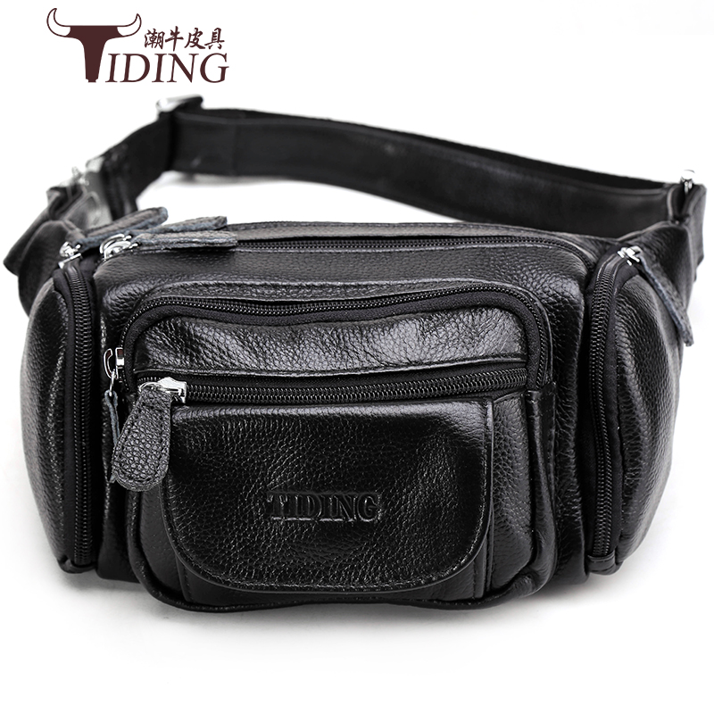 waist bags genuine leather for man 2018 new men brand fashion casual black brown travel small bags male waist chest bag ipartsbuy 2 in 1 for samsung galaxy note edge n915 lcd touch pad digitizer assembly