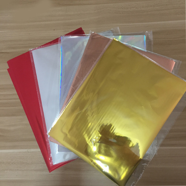 50pcs Mixed Color Gold Silver Hot Stamping Foil Paper Laminator
