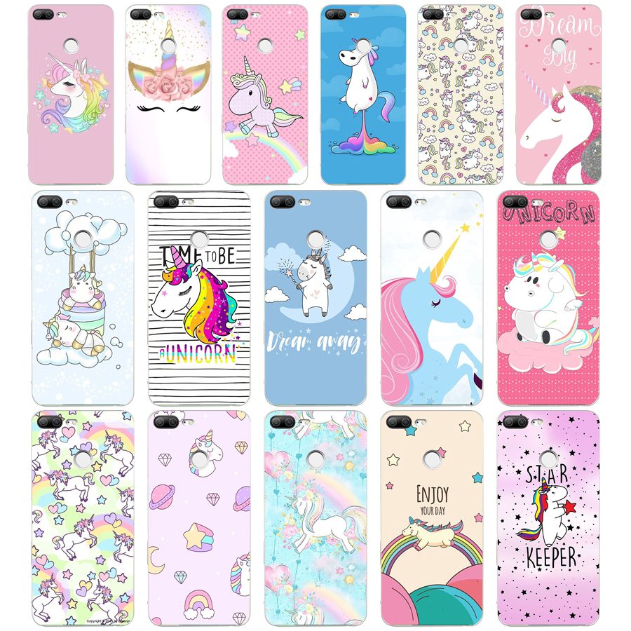 286H <font><b>Unicorn</b></font> On Rainbow Jetpack Soft Silicone Tpu Cover phone Case for huawei <font><b>Honor</b></font> <font><b>9</b></font> <font><b>Lite</b></font> 10 p <font><b>9</b></font> 10 <font><b>lite</b></font> image