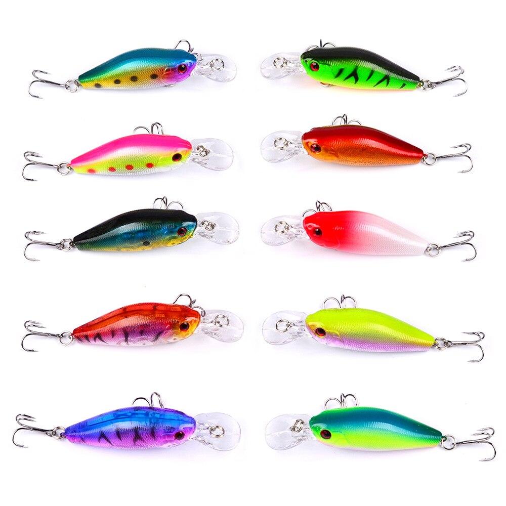 100pcs YUZI Brand 9g 7cm Fishing Lure Set Wobbler Pesca Artificial Bait for Fishing Isca Hard