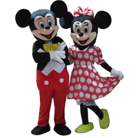 couple mouse mascot costume cosplay for party fancy costume maskot red mouse boy and girl masocts