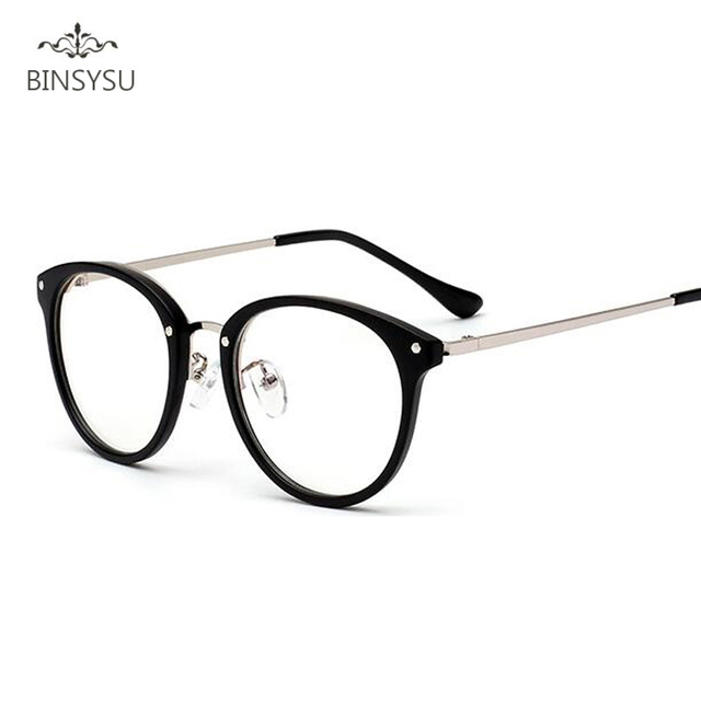a3c399e1b New Products Simple Metal Glasses Frame For Women Solid Color Big TR90  Frame Eyeglasses Student Glasses