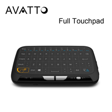 [AVATTO] H18 Full Touchpad Wireless mini keyboard, 2.4GHz Gaming Air Mouse with Touch pad For Smart tv,TV Box, PC,Laptop