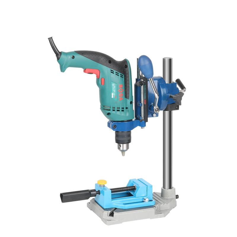 Electric Drill Stand Power Rotary Tools Accessories Bench Drill Press Stand DIY Tool Double Clamp Base Frame Drill Holder цена