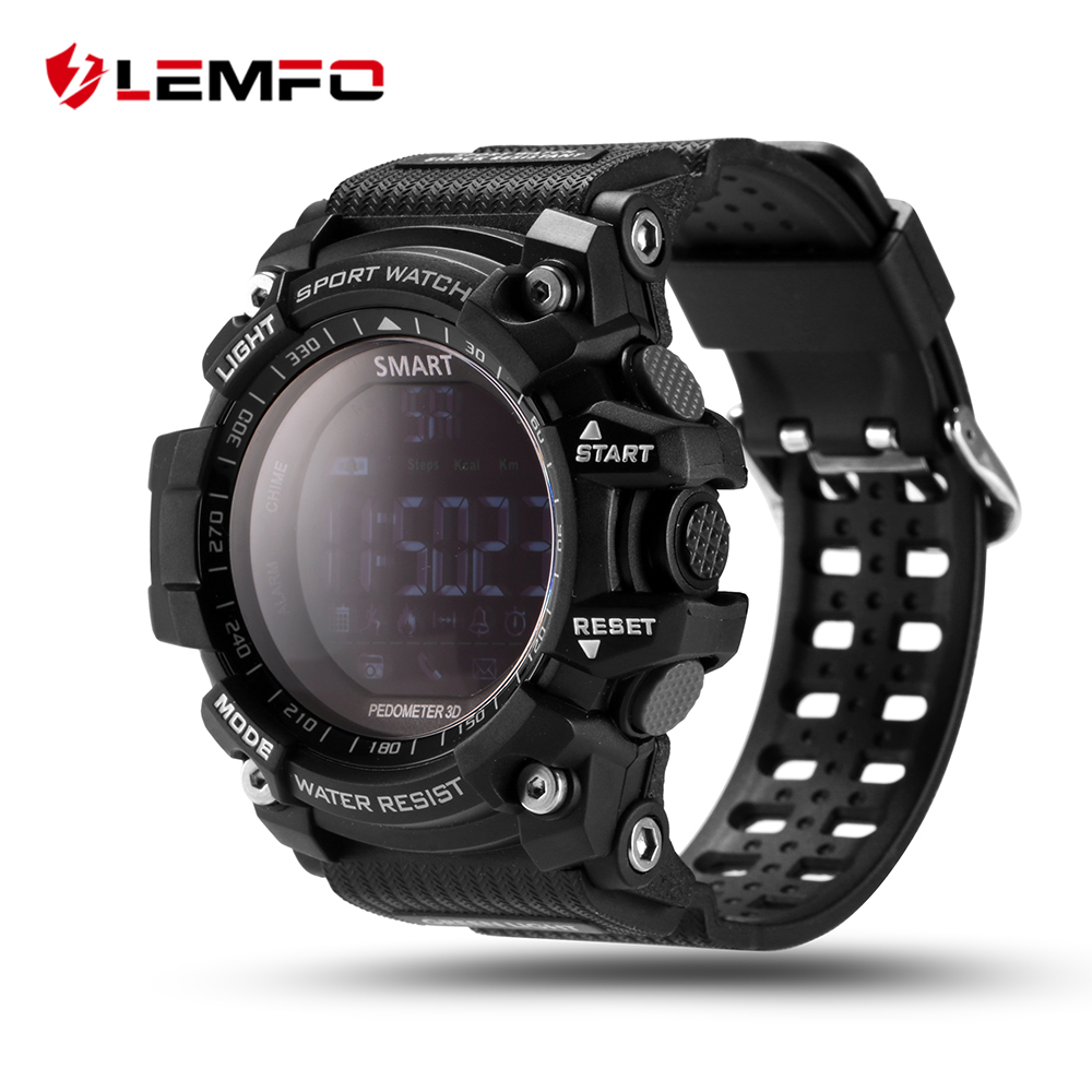 LEMFO EX16 Smart Watch Pedometer Smartwatch Stopwatch Smart Watch Men Call / Message Reminder for IOS Android Phone