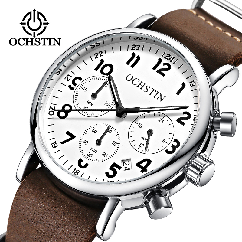OCHSTIN Fashion Chronograph Sport Mens Watches Top Brand Luxury Quartz Watch Reloj Hombre 2017 Clock Male hour relogio Masculino olevs fashion mens sport watches auto date rose gold leather quartz watch reloj hombre 2017 male clock hour relogio masculino