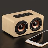 Portable Wireless Bluetooth Speakers Wooden Dual Passive Subwoofer Speaker XXM8