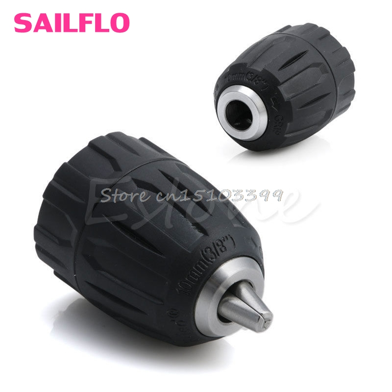 New 0.8-10MM Capacity 3/8-24UNF Mount Keyless Thread Drill Chuck Hand Tool G08 Drop ship new rotary b12 hammer drill chuck tool cap 1 5 10mm 3 8 mount 3 8 24unf converion sds shank adapter