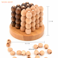 WOWHOT Creative 3D Wooden Board Game For 2 Players Classic IQ Wood Puzzle Brain Teaser Game