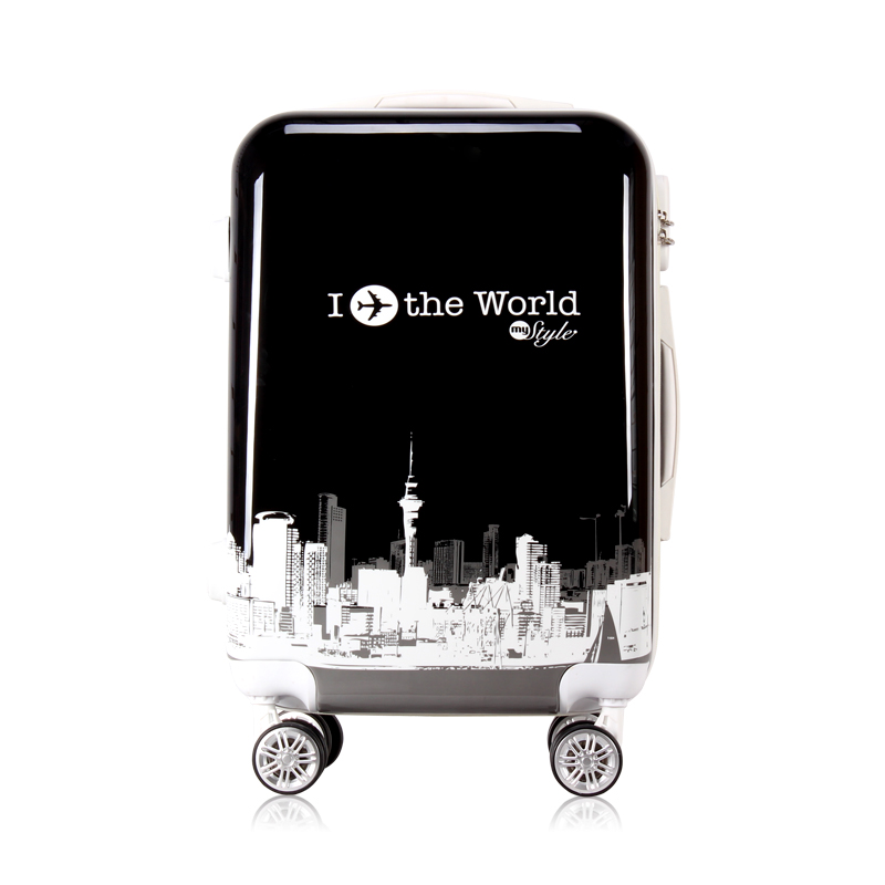 KUNDUI 20 24 inch rolling spinner wheels scrawl trolley suitcase luggage font b Bags b font