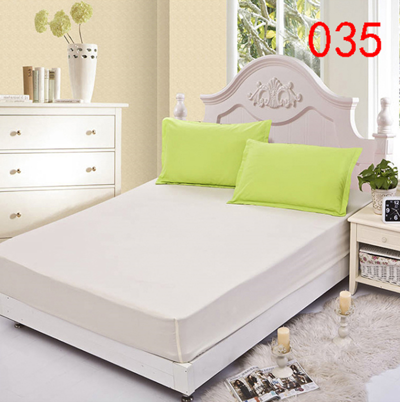 solid beige polyester fitted sheet single double bed sheets fitted cover twin queen mattress cover bedspread
