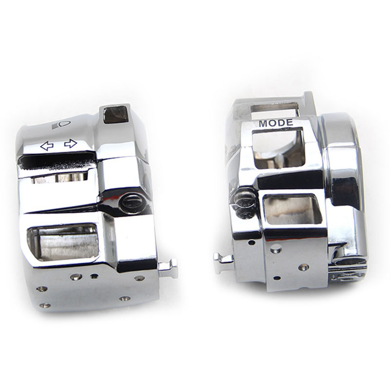 Chrome Switch Housing Covers For <font><b>Suzuki</b></font> GSX 1300R GSXR600 GSXR750 GSXR1000 <font><b>GSXR</b></font> GSX-R 600 <font><b>750</b></font> 1000 Motorcycle <font><b>Parts</b></font> image