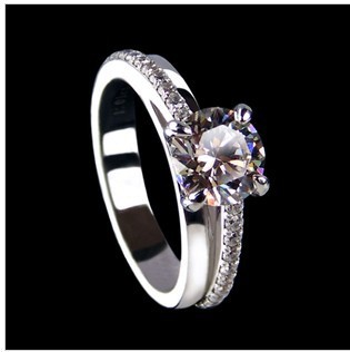 Aliexpress Com Buy 1 Carat White Gold 585 Lucky Round Meaningful