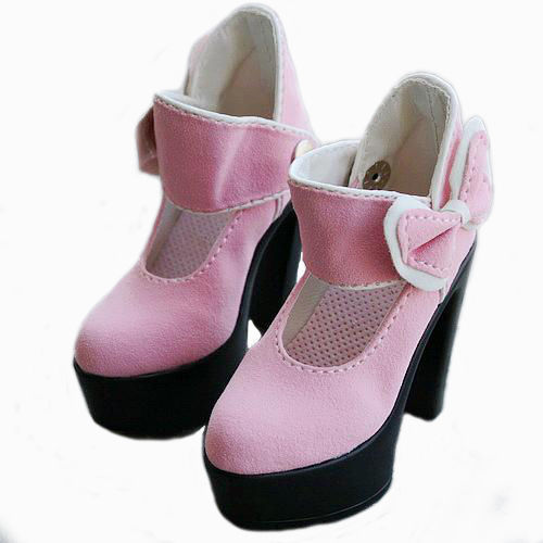 [wamami] 52# Pink 1/3 DZ DOD AOD SD BJD Dollfie High Heels Leather Shoes купить