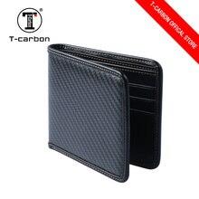 T-CARBON из углеродного волокна кожаный бумажник держатель для карт черный
