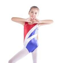 Children Girls ballet gymnastics dance practice clothes explosion models sleeveless radium color spell body suit