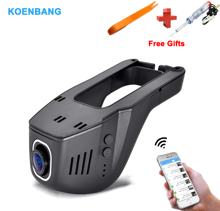 KOENBANG Wifi Hidden Car DVR Dash Camera WDR Night vision Sony Imx323 1080P HD, 170 Degree Car Dash Cam bigbigroad for nissan qashqai car wifi dvr driving video recorder novatek 96655 car black box g sensor dash cam night vision