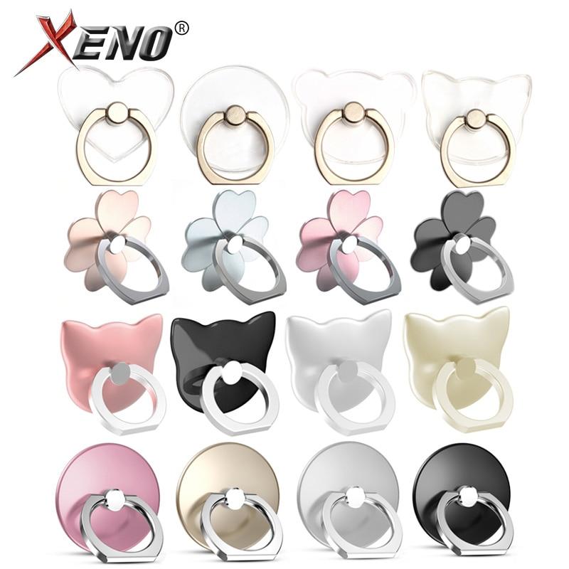 Phone Ring Holder Universal Mobile Phone Grip Non-slip Metal/Plastic Fashion Finger Ring For Phone/Tablet Holder Stand Cat/Bear