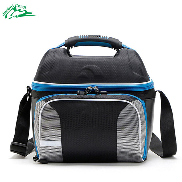 Jeebel 14L Shoulder Strap Lunch Bag Portable PicnicLunch Box Insulation Camping Equipment Container Refrigerator Cooler Bags