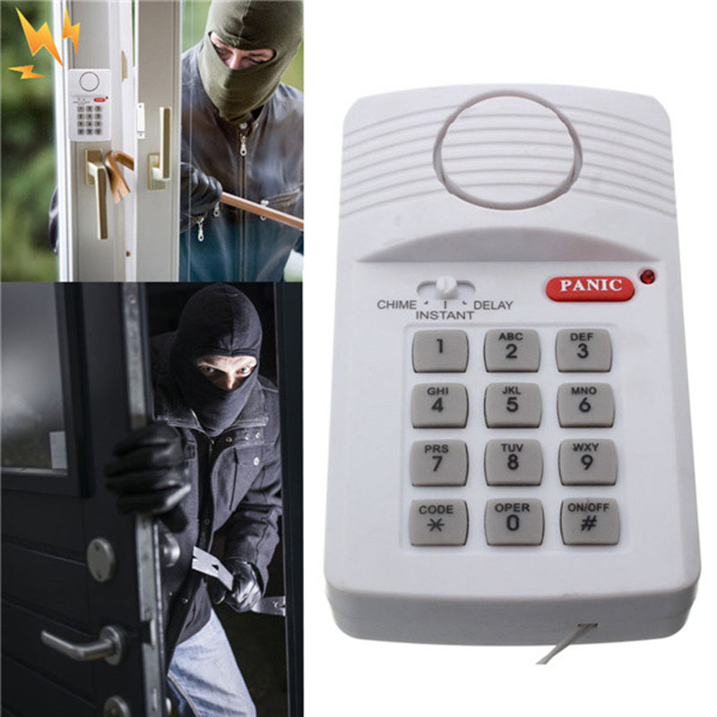Security Keypad Door Window Alarm System With Panic Button For Home Garage Alarm Systems